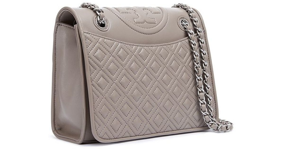 d588a403c28 Tory Burch Fleming Medium Bag in Gray - Lyst