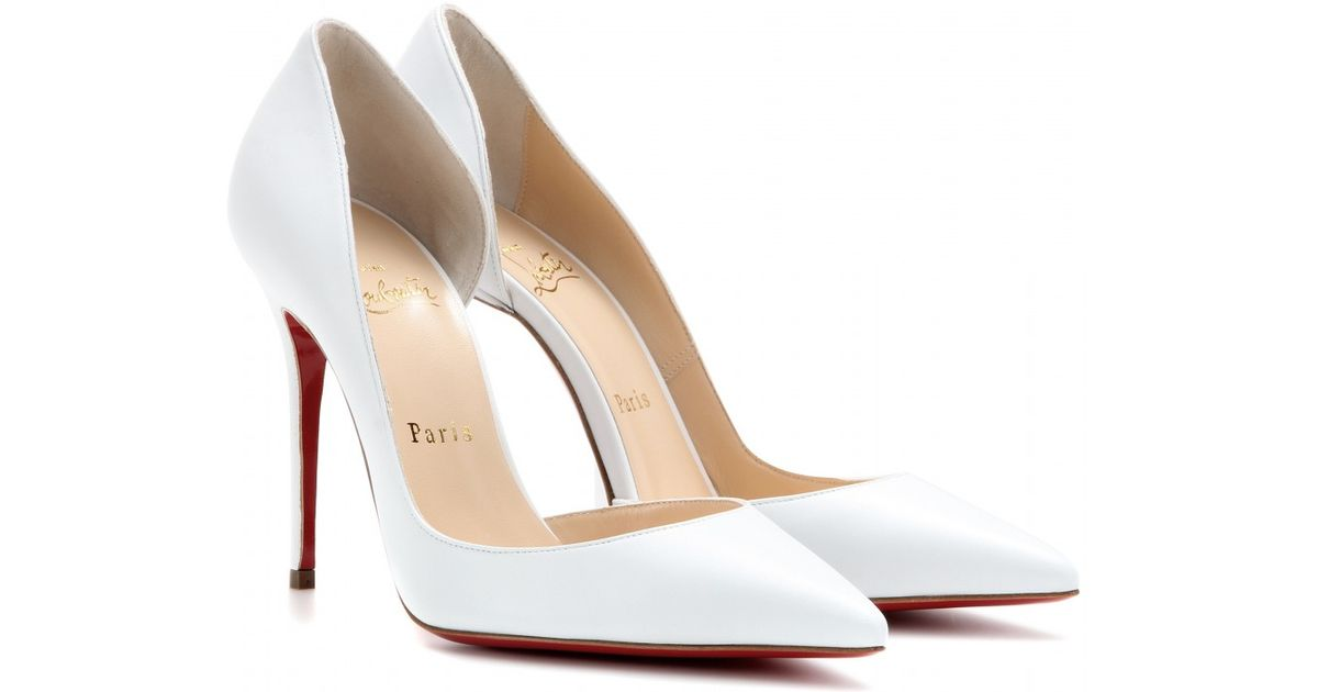 02470d2502a4 Christian Louboutin Iriza 100 Leather Pumps in White - Lyst