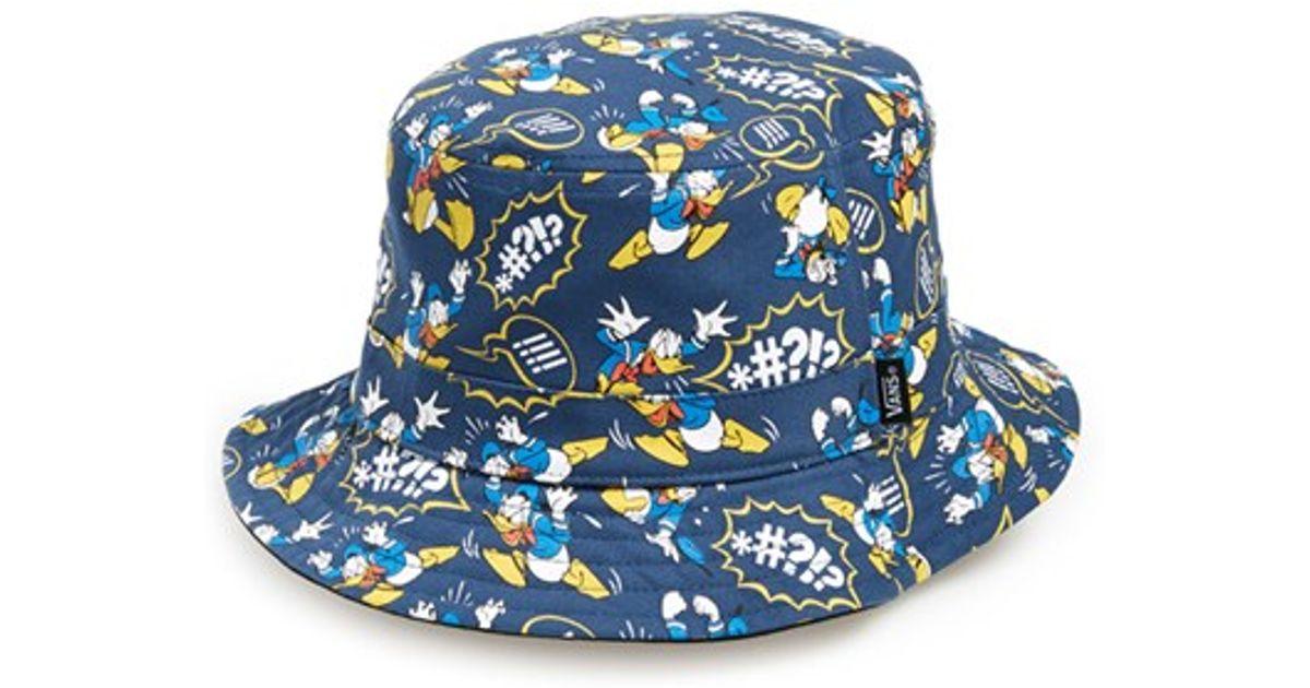 2b24bf8c0fb Lyst - Vans   X Disney - Donald Duck  Reversible Bucket Hat