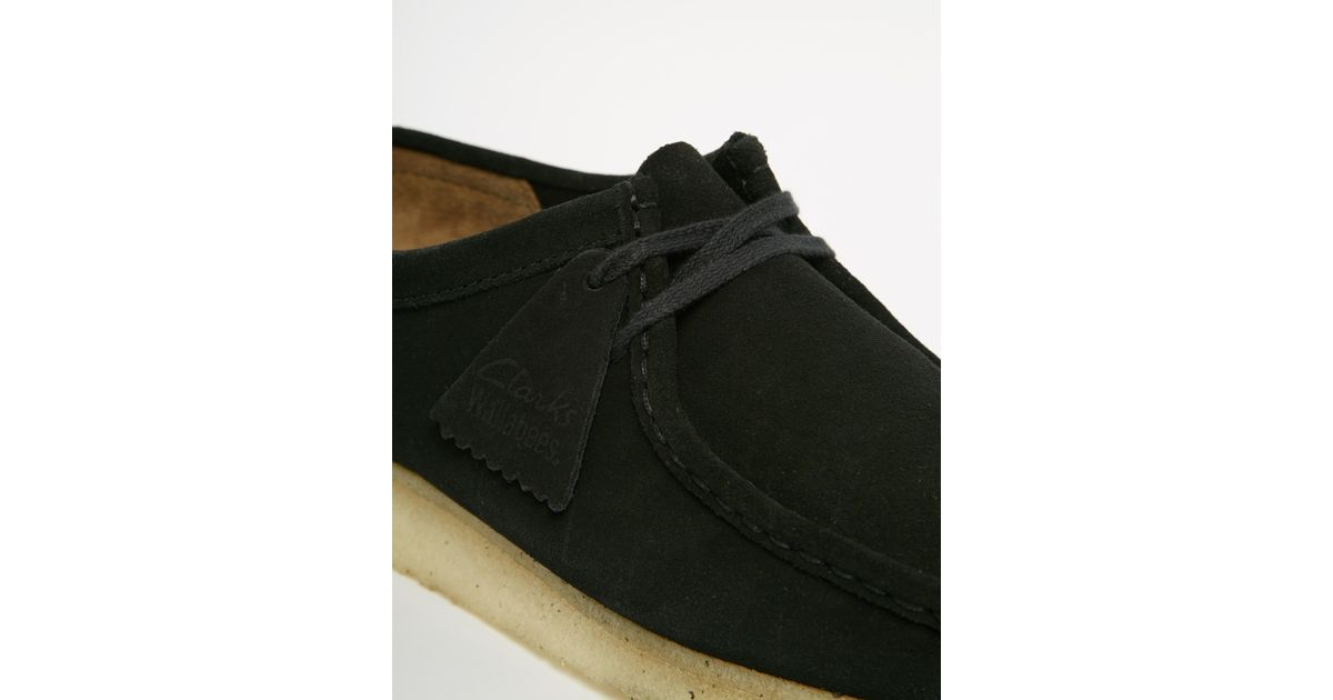 3ed58734851 Lyst - Clarks Clarks Original Wallabee Suede Shoes in Black for Men