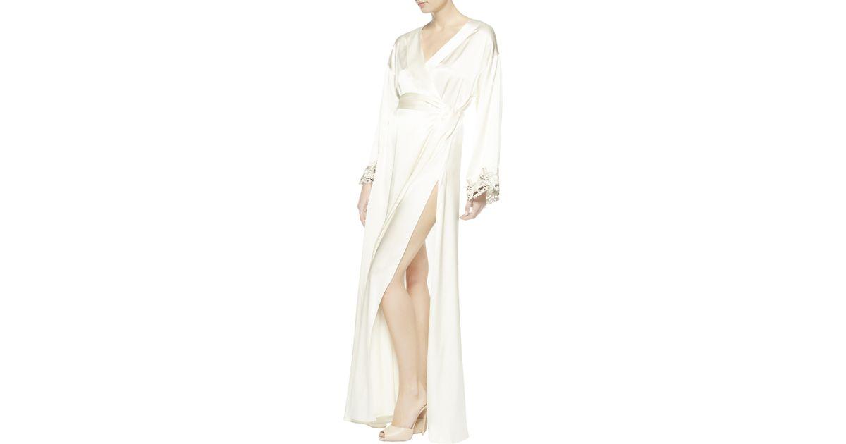 la perla maison robe in white lyst