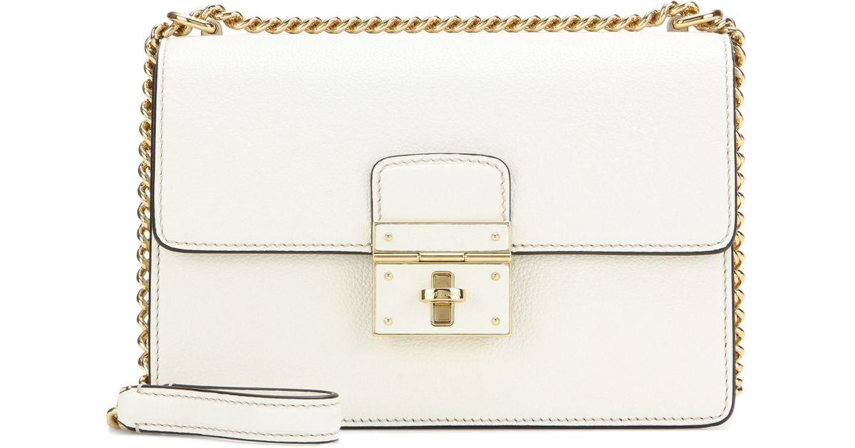 faf5c16d0c31 Lyst - Dolce   Gabbana Rosalia Leather Shoulder Bag