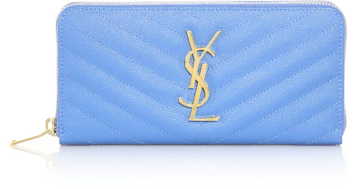 ysl cabas chyc large leather tote - monogram saint laurent chain wallet in sky blue grain de poudre ...