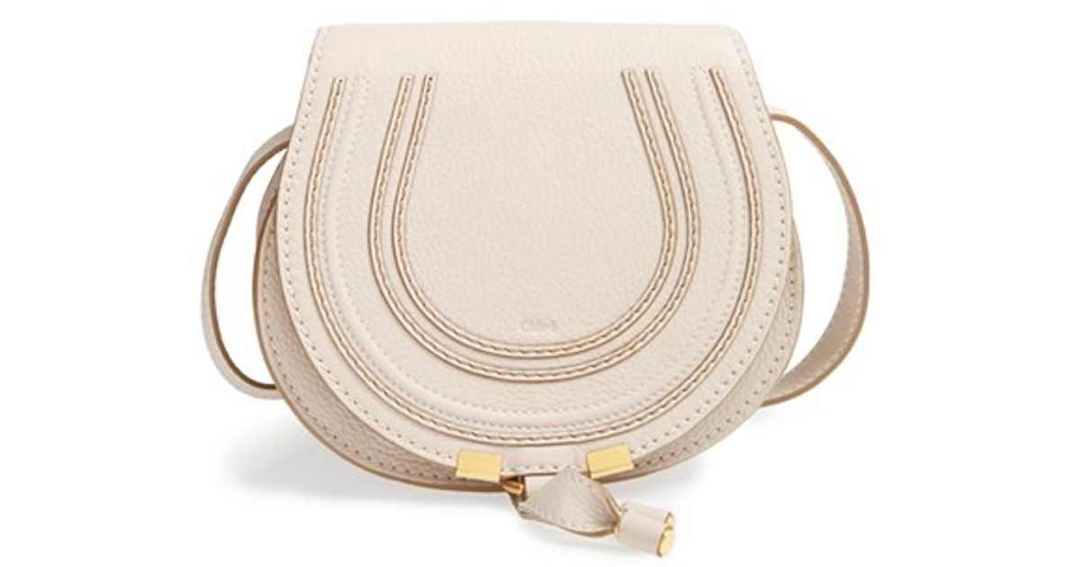 Chlo�� \u0026#39;marcie - Small\u0026#39; Leather Crossbody Bag in White (ABSTRACT ...