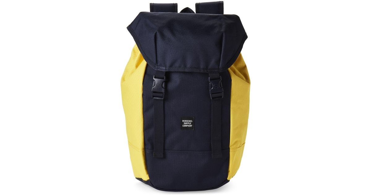 10326f65b7cc Lyst - Herschel Supply Co. Peacoat   Cyber Yellow Iona Laptop Backpack in  Blue for Men