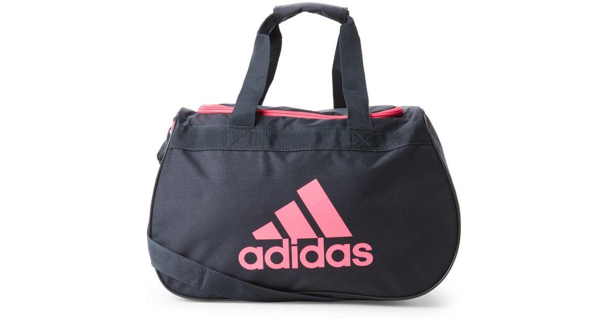 Lyst - Adidas Grey   Pink Diablo Small Duffel Bag in Gray 599473785dccf