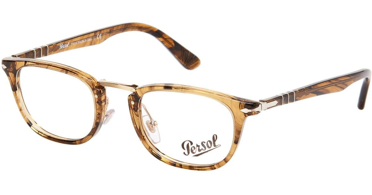 Lyst - Persol Po3126 Light Brown Oval Optical Frames in Brown