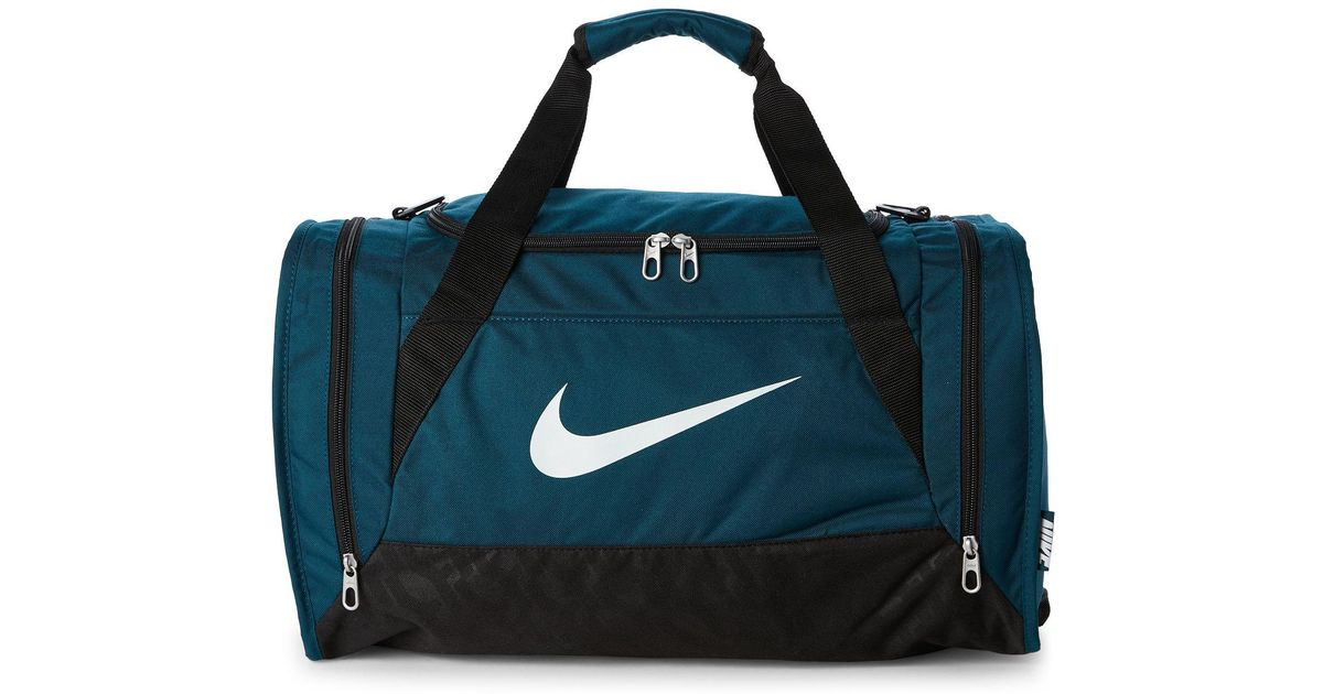 0710b15bf62a Lyst - Nike Midnight Turquoise Brasilia Small Duffel Bag in Blue for Men