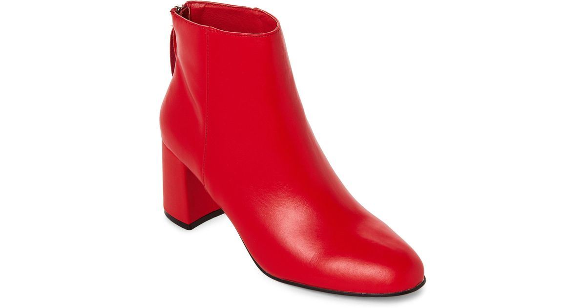 modern and elegant in fashion special selection of exceptional range of colors Steve Madden Fire Red Parisa Block Heel Booties