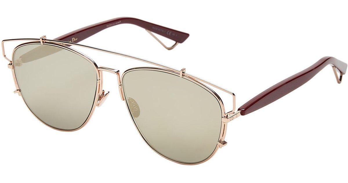 1ba38c959350 Lyst - Dior Technologic D2xqv Rose Gold-tone Aviator Sunglasses in Metallic  for Men