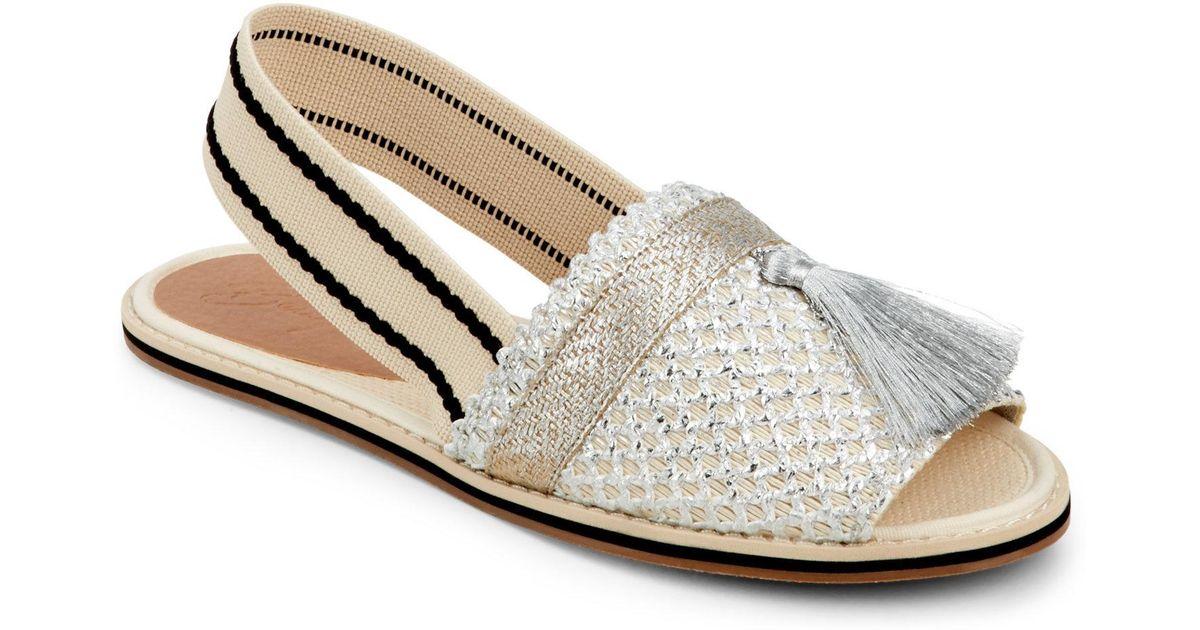 e347de1c4d3 Lyst - Bettye By Bettye Muller Silver Ace Metallic Woven Slingback Sandals  in Metallic