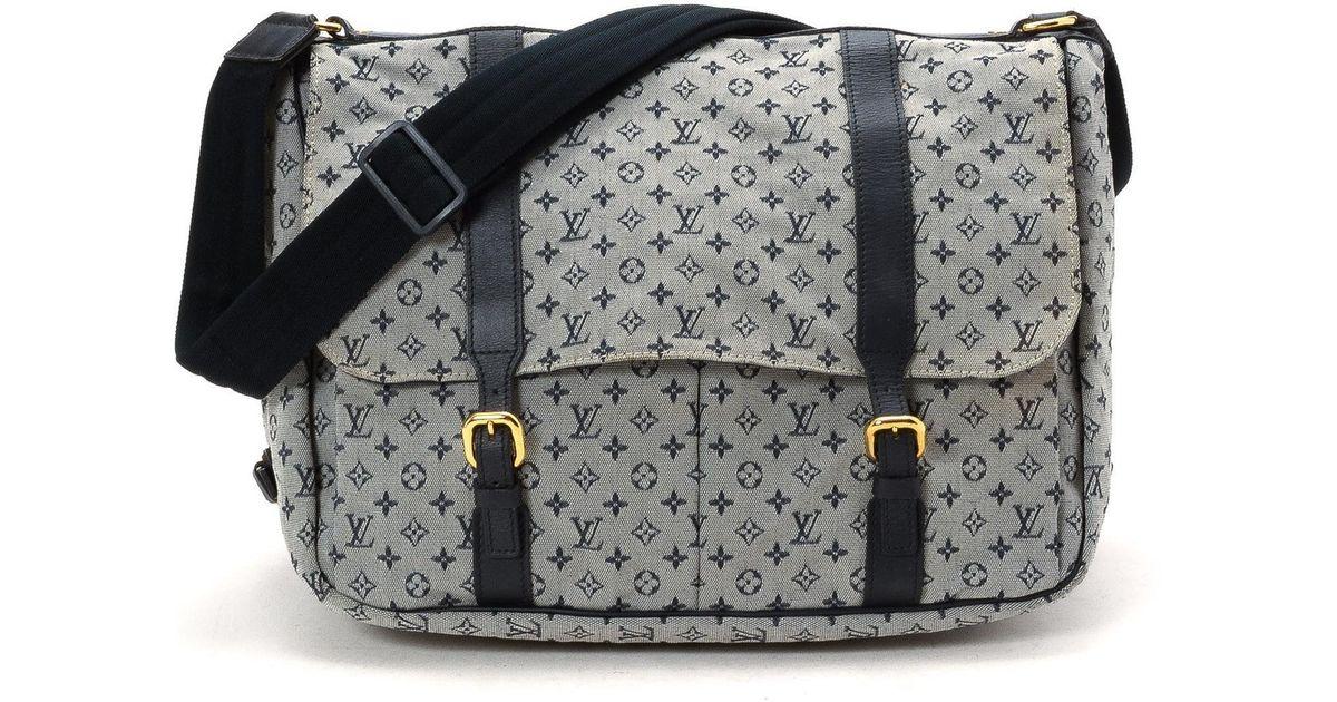 Lyst Louis Vuitton Sac Maman Diaper Bag Vintage In Blue