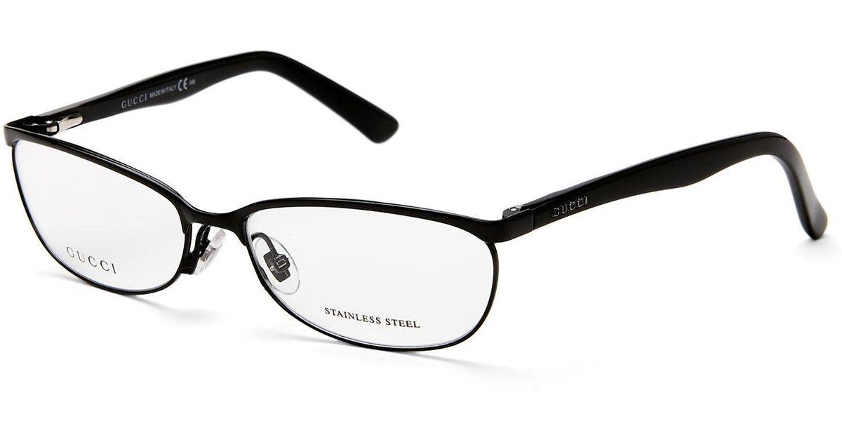 Lyst - Gucci Gg 2884 Black Cat Eye Optical Frames in Black