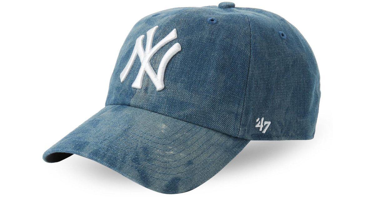 97d46e41561da ... best price lyst 47 brand washed denim new york yankees baseball cap in  blue for men