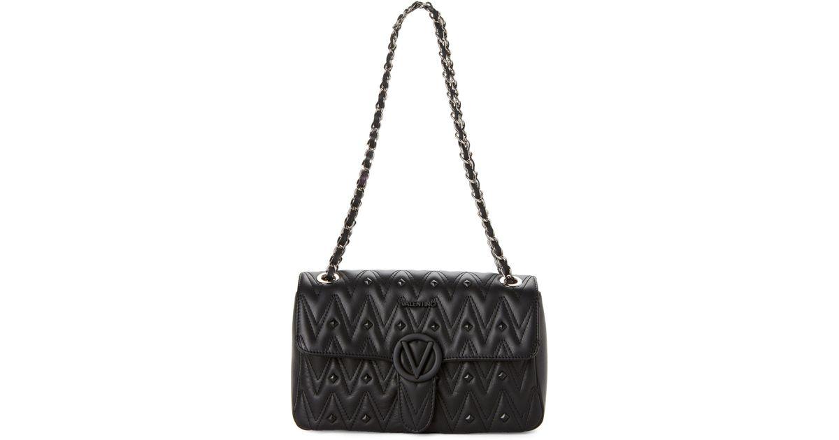 68f4302b27b8 Lyst - Valentino By Mario Valentino Black Antoinette Studded Chain Shoulder  Bag in Black