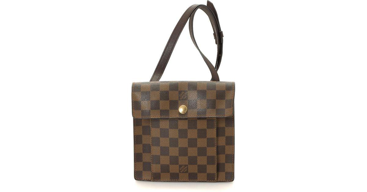 63ed95e71068 Lyst - Louis Vuitton Damier Ebene Pimlico Crossbody - Vintage in Brown