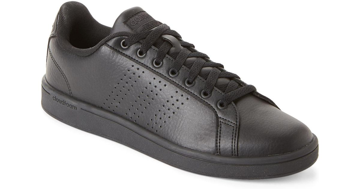 lyst adidas schwarze neo - cloudfoam vorteil saubere turnschuhe in schwarz