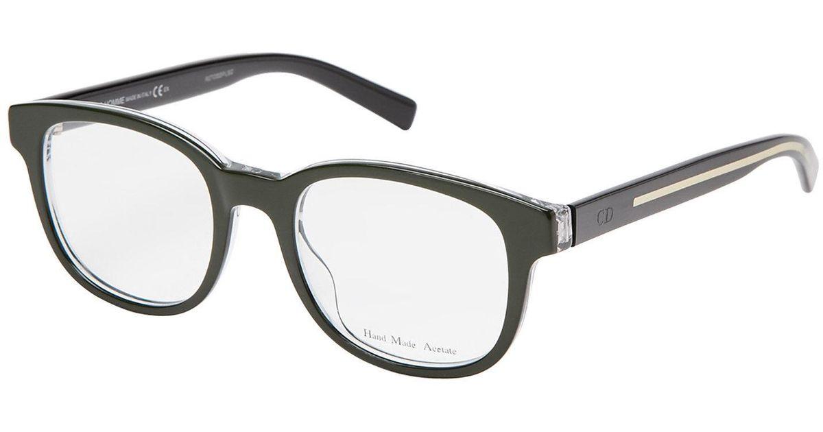 Lyst - Dior Blacktie202 Olive & Black Wayfarer Optical Frames in Black