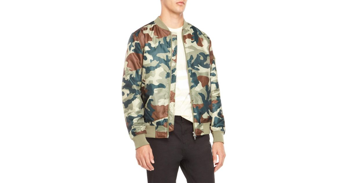 fd9512e1a9a07 Wesc Camo Bomber Jacket in Green for Men - Lyst