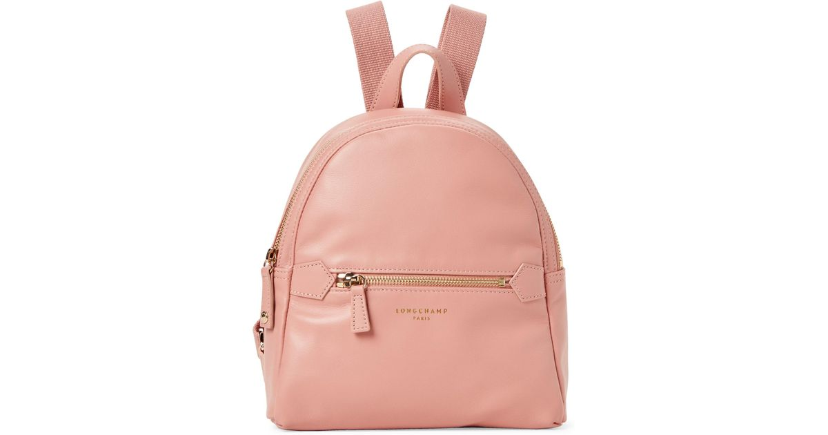 b8924690bef3 Lyst - Longchamp 2.0 Small Leather Backpack Bag in Pink - Save 14%