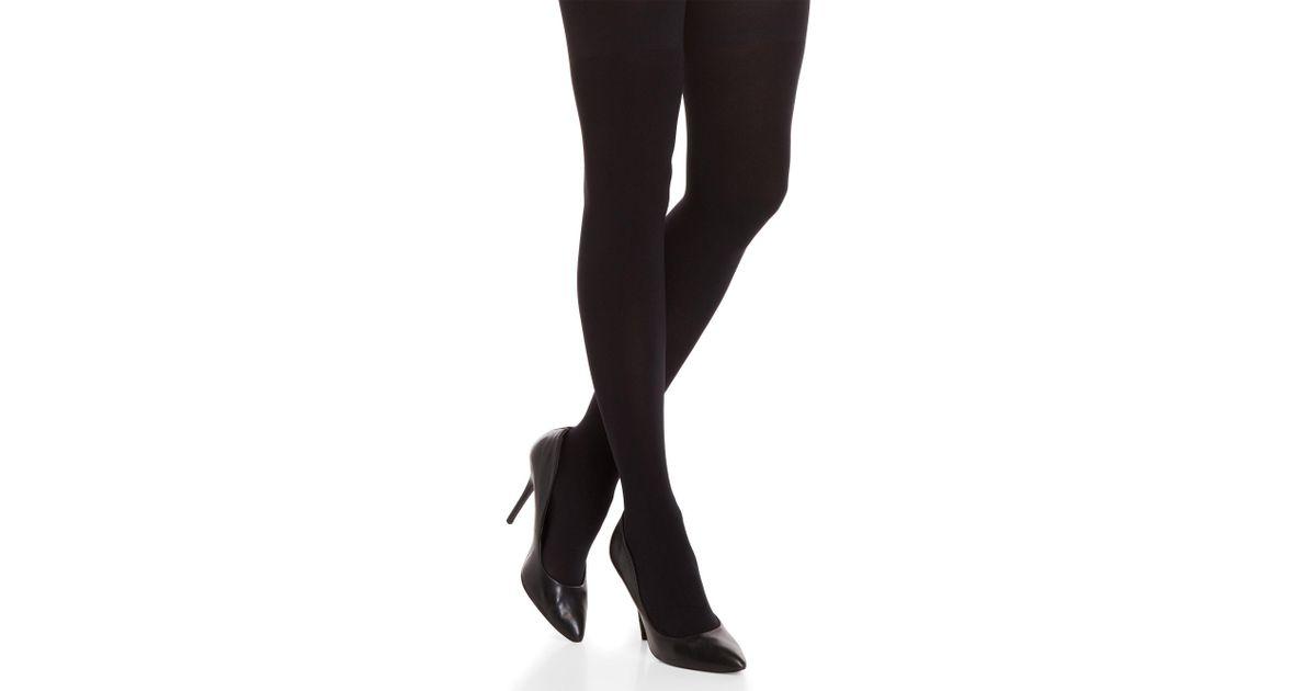 660f8b1555424 Calvin Klein Black 80 Denier High-waisted Shaper Tights in Black - Lyst