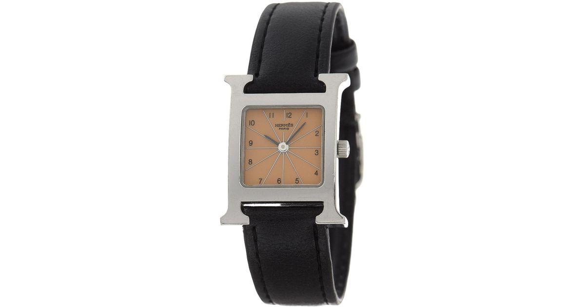 Heure Hermᄄᄄs H Watch Lyst Metallic Hh1 21mm 210 Vintage W29EHDI