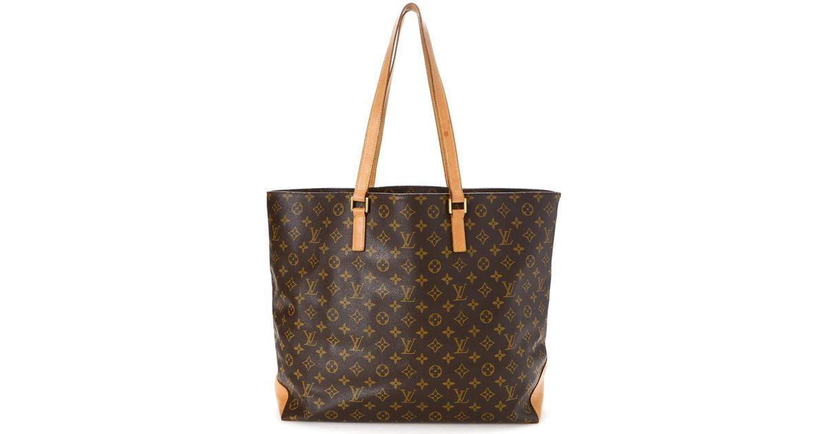 4c7da5bb81d0 Lyst - Louis Vuitton Monogram Cabas Alto Tote Bag - Vintage in Brown