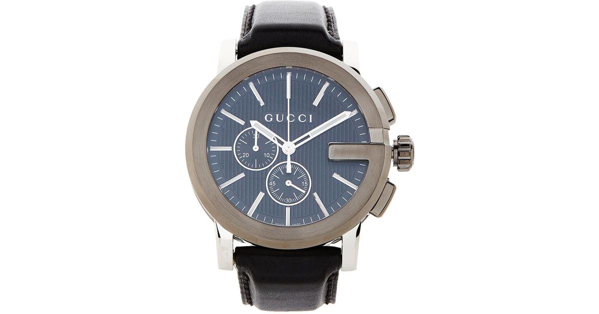 5e4d0867376 Lyst - Gucci Ya101205 G-chrono Black   Silver-tone Watch in Black for Men