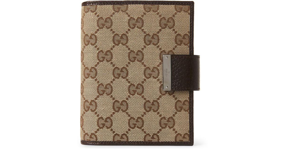 00321c9fa14a54 Lyst - Gucci Gg Canvas Agenda Cover in Brown