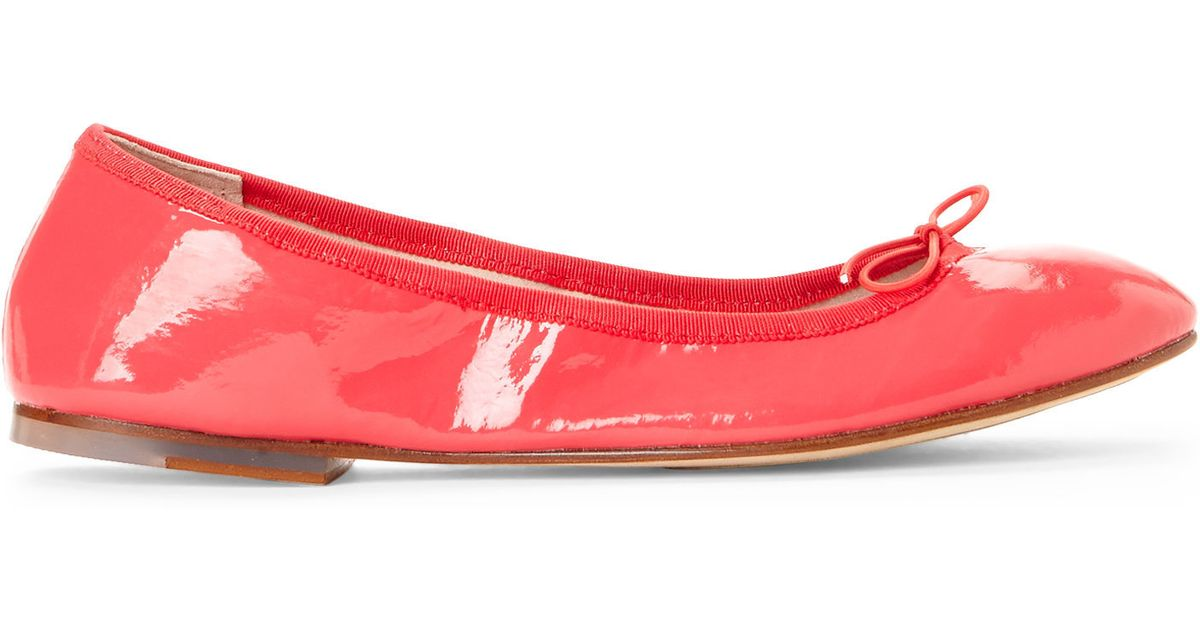 bloch strawberry patent leather ballet flats in lyst