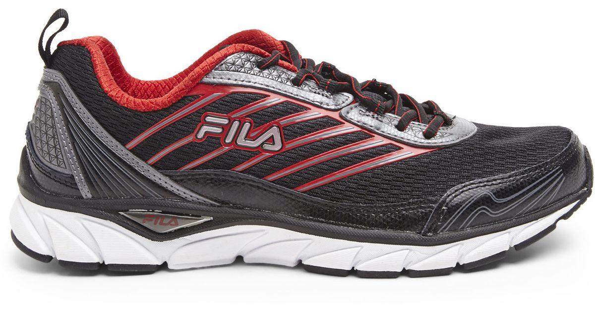 Fila Black Amp Red Forward Sneakers In Red For Men Black