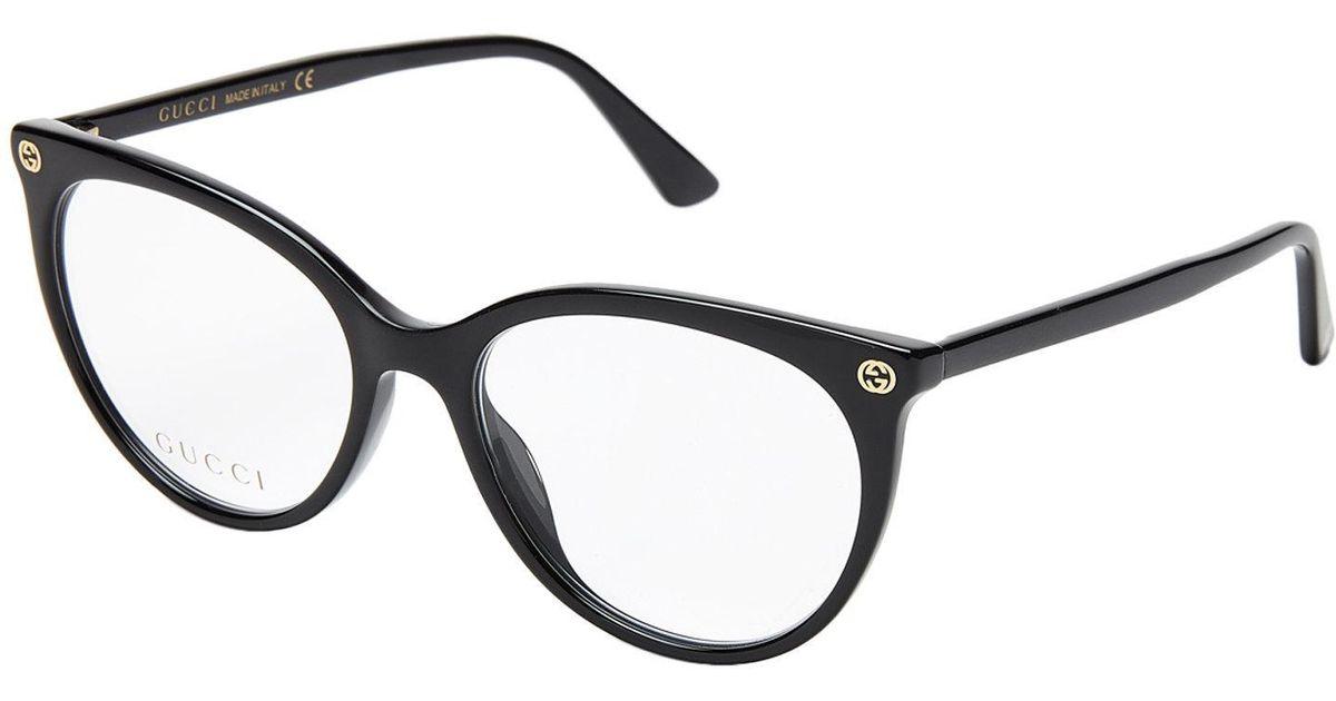 Lyst - Gucci Gg00930 Black Round Optical Frames in Black