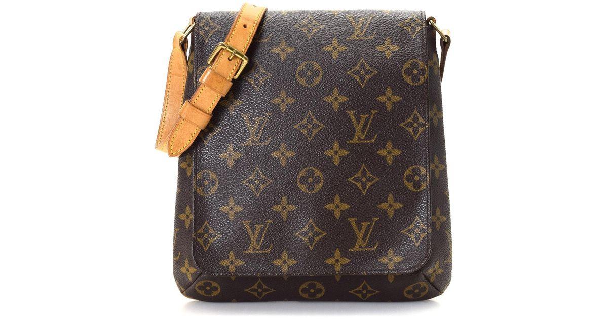 806e4f27ecd Lyst - Louis Vuitton Shoulder Bag - Vintage in Brown