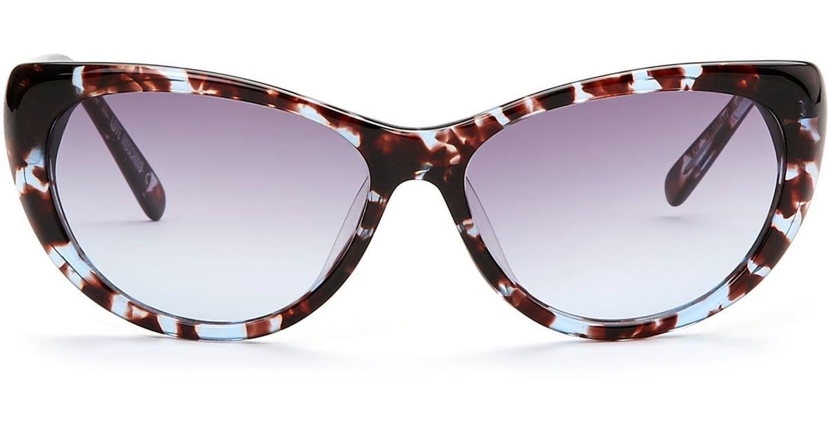 9c98f9c8ff Love moschino Blue Tortoiseshell-Look Ml522S03 Cat Eye Sunglasses in Blue