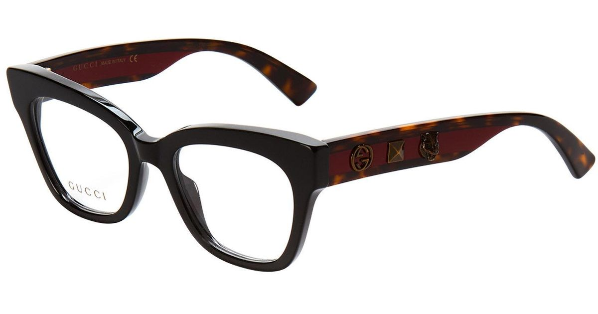 Lyst - Gucci Gg0060/o Black Butterfly Optical Frames in Black