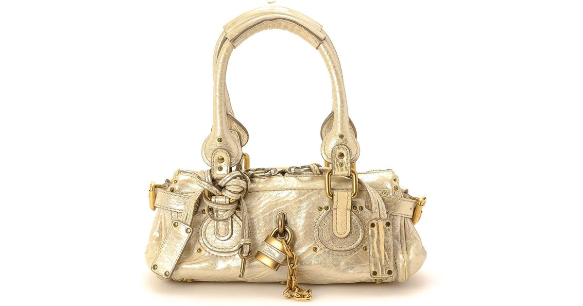 ce2f9df15107 Lyst - Chloé Metallic Paddington Leather Handbag - Vintage in Metallic