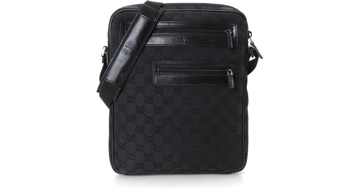 83ba45be587c Gucci Gg Canvas Messenger Bag - Vintage in Black for Men - Lyst