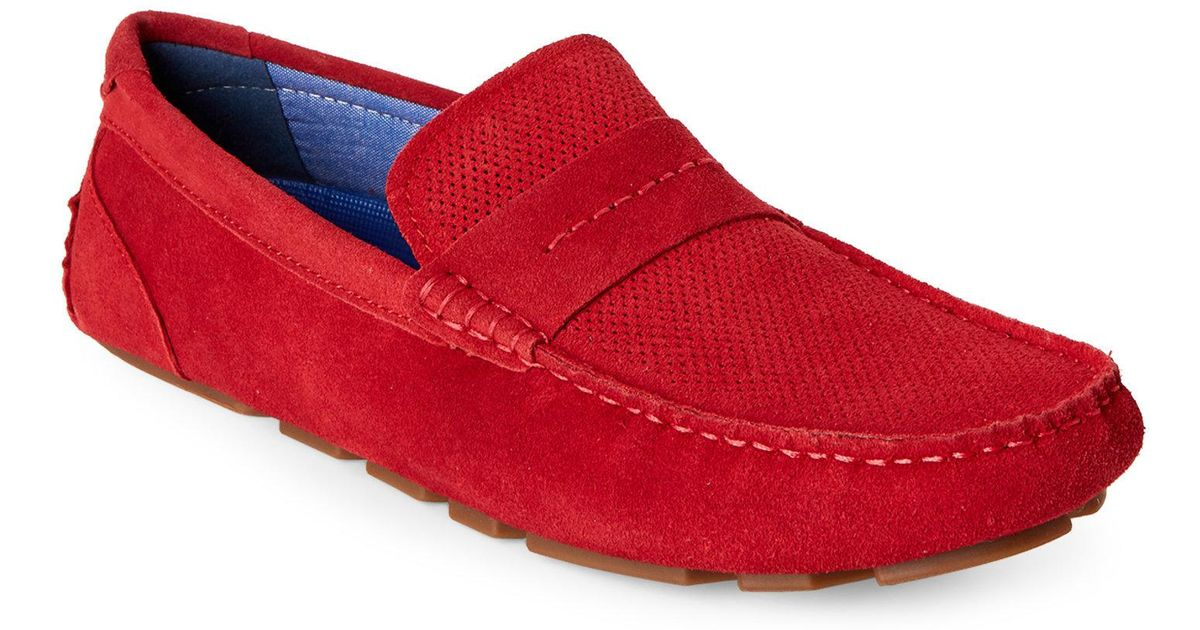 740f123b558 Lyst - Steve Madden Red Upswing Casual Suede Loafers in Red for Men