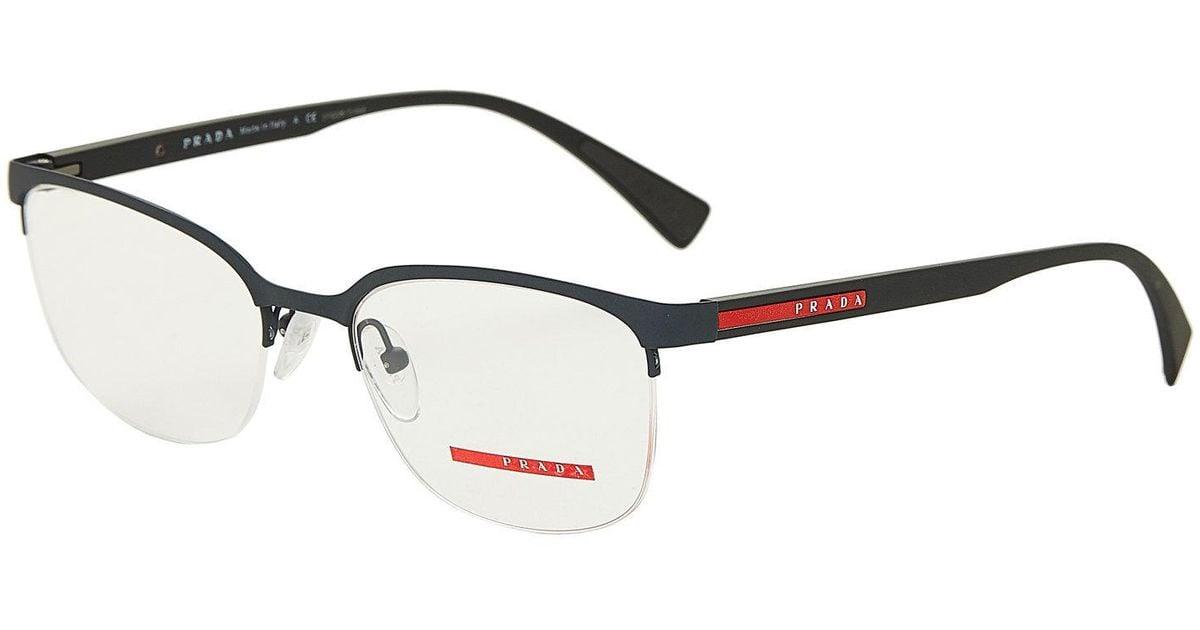 d91e9fb1a967 Lyst - Prada Vps 511 Matte Grey Semi-rimless Optical Frames in Gray for Men