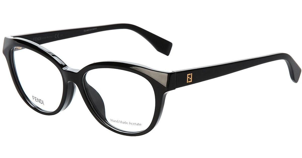 67ad1055a5acc Lyst - Fendi Ff 0044 Black Cat Eye Optical Frames in Black