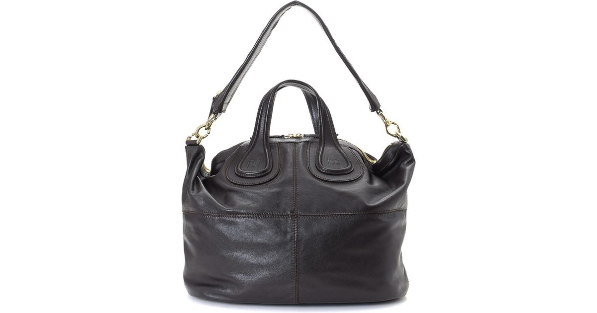d968dd4cb2 Lyst - Givenchy Nightingale Two Way Leather Shoulder Bag - Vintage in Black