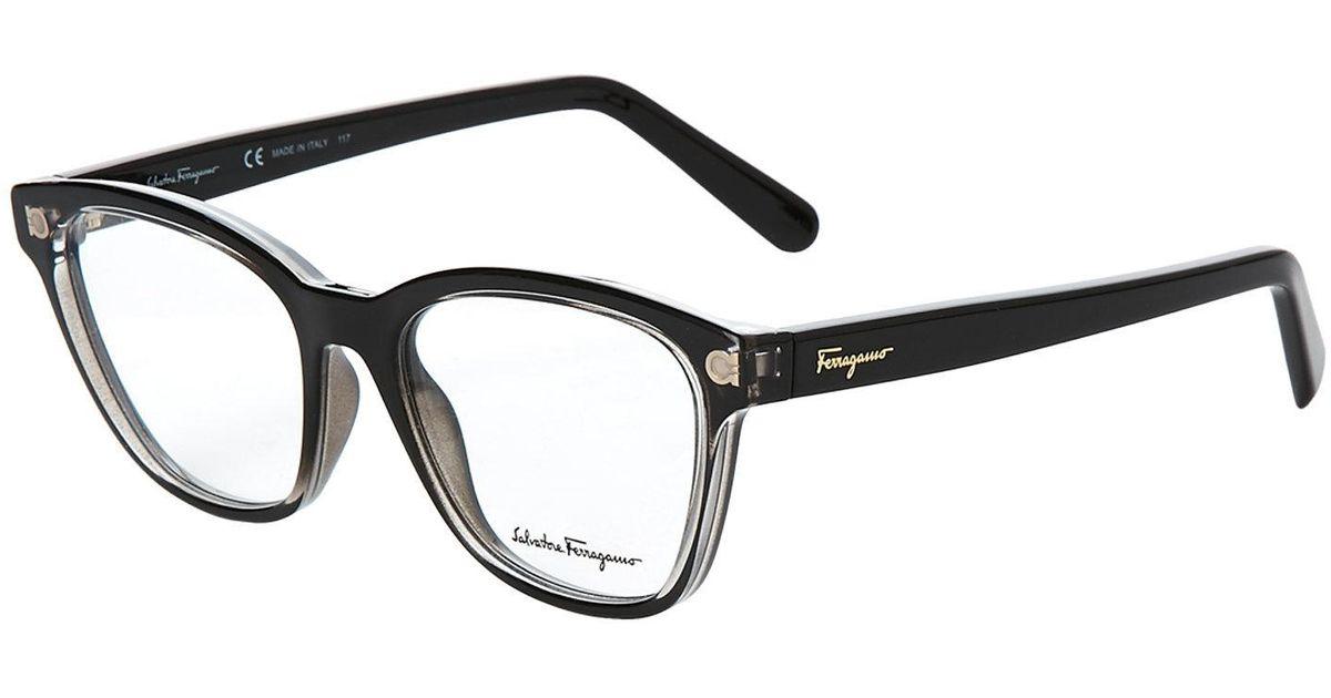 Lyst - Ferragamo Sf2766 Black Wayfarer Optical Frames in Black