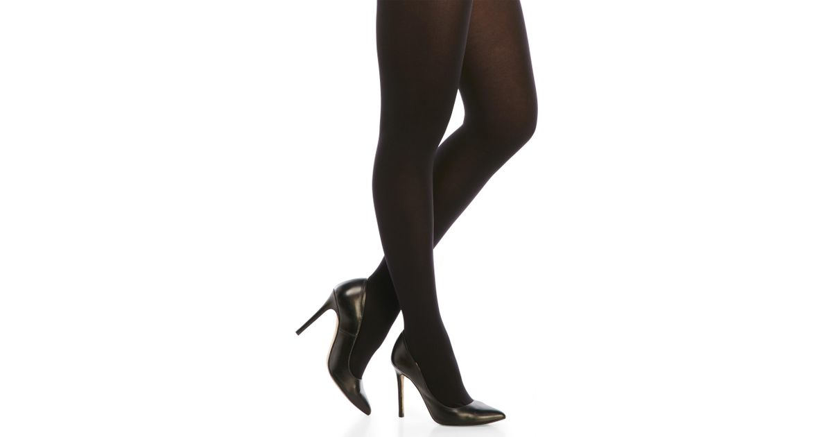 f8098671f09b0 Lyst - Hue Ultimate Opaque Control Top Tights in Black