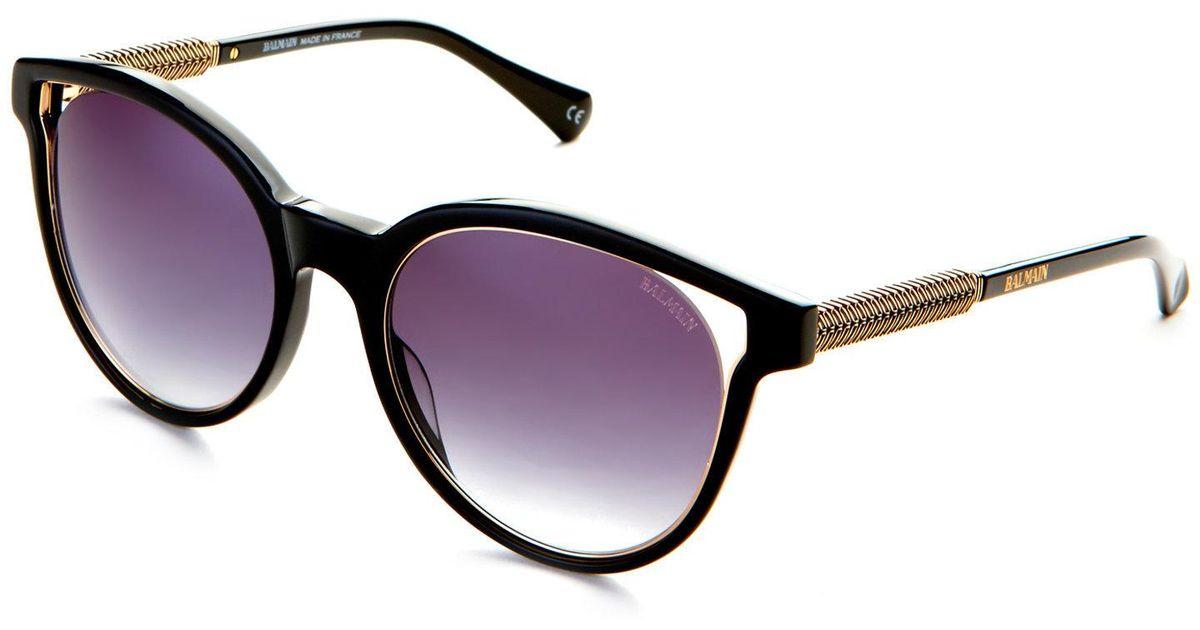 ffd2ff3d51d85 Balmain Black Bl2507 Cat Eye Sunglasses in Black - Lyst