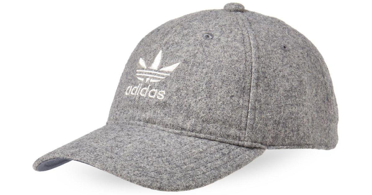 26627d7149121 Lyst - adidas Grey Originals Relaxed Plus Baseball Cap in Gray for Men