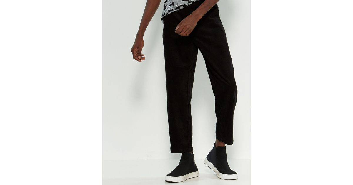 exclusive range the latest unique style Wesc - Black Iggy Cropped Relaxed Fit Corduroy Pants for Men - Lyst