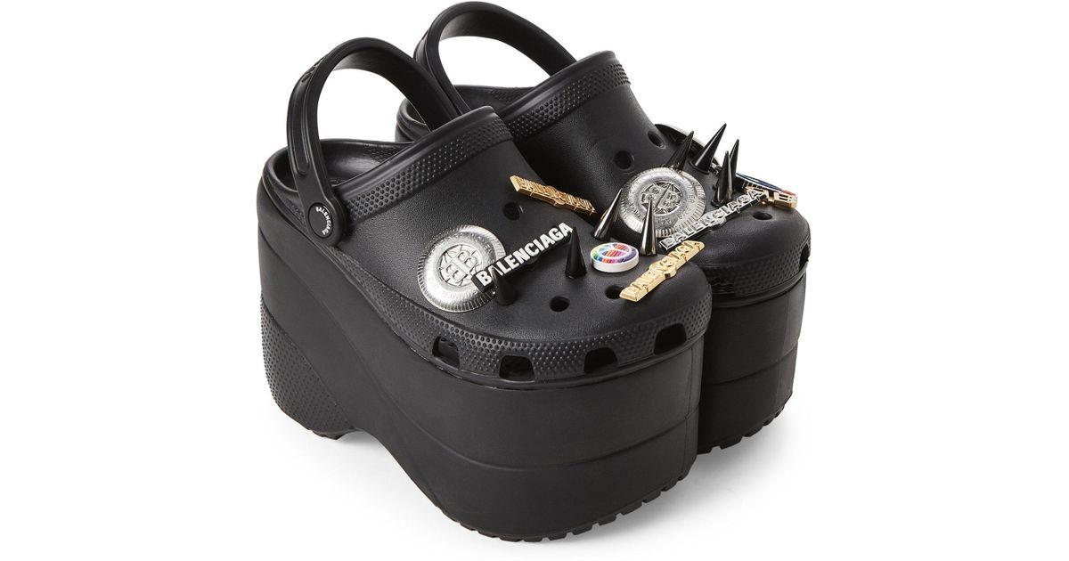 9483136b4a9 Lyst - Balenciaga Black Foam Platform Sandals in Black