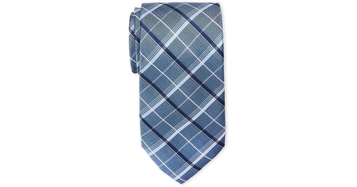 6a539156b85c Lyst - Michael Michael Kors Boxed Plaid Silk Tie in Blue for Men