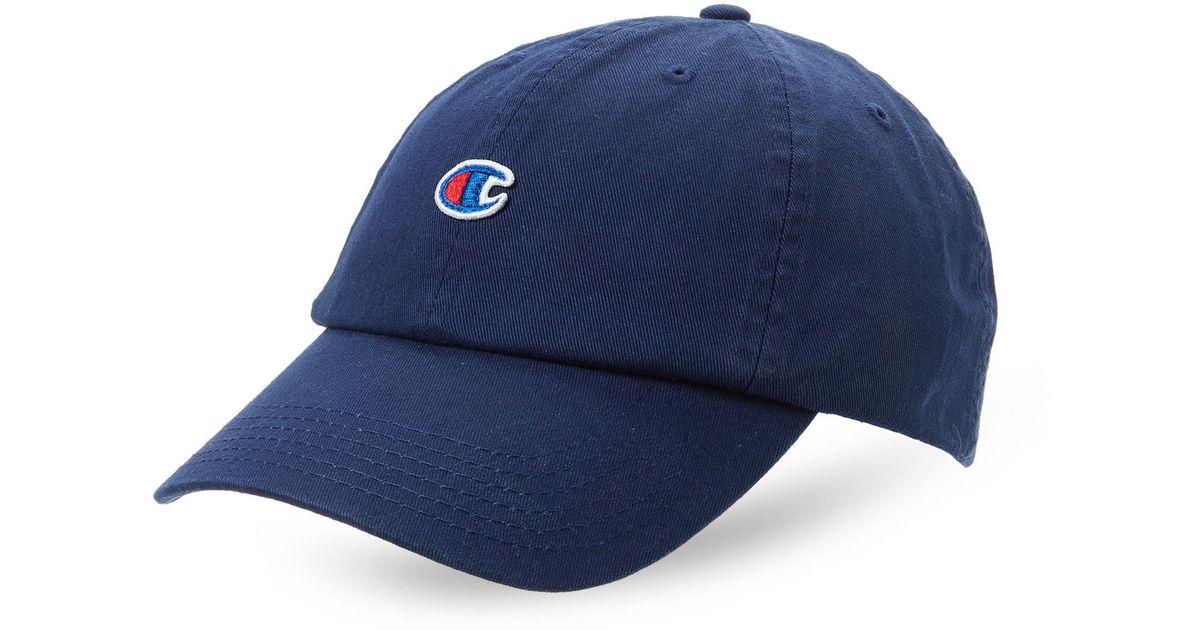 38e4291e53539 Champion Small Logo Dad Hat in Blue for Men - Lyst