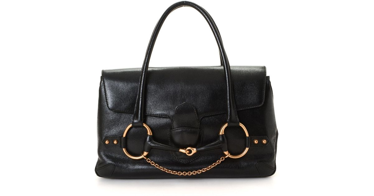 3550d4241955 Gucci Horsebit Shoulder Bag - Vintage in Black - Lyst